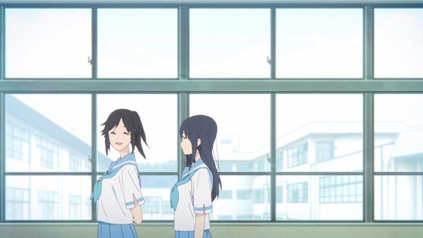 """Nozomi, left, and Mizore in the animated movie """"Liz and Blue Bird."""""""