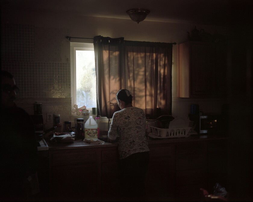 "William Camargo documents his home life in ""My Mother At The Sink,"" 2020."