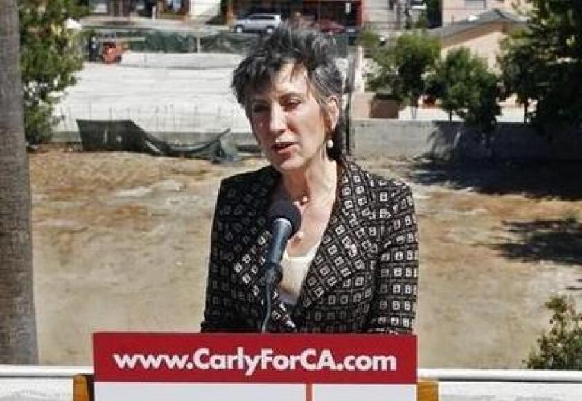 U.S. Senate candidate Carly Fiorina visited Glendale Monday.