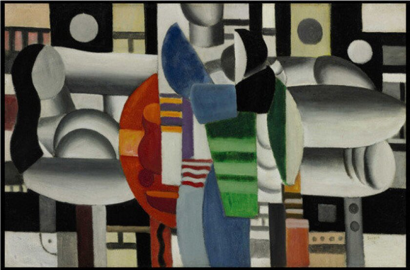 """""""Trois Femmes a la Table Rouge,"""" a Fernand Leger painting owned by Madonna, has sold for $7.2 million at a Sotheby's auction in New York."""