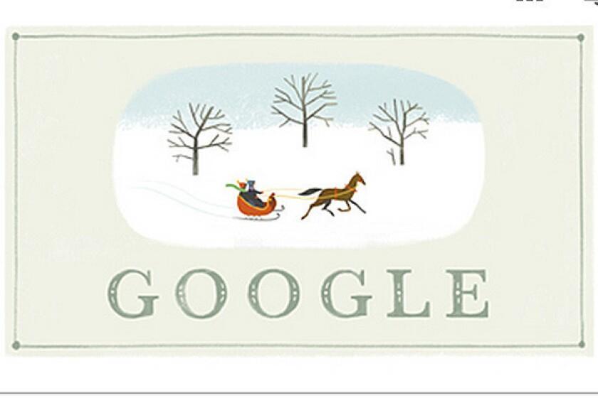 Google Doodle kicking off Christmas Eve 2013