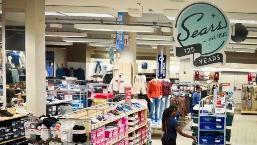 A Sears department store is seen Oct. 10, 2018, in Brooklyn, N.Y. Sears stock closed at 34 cents a share on Oct. 11.