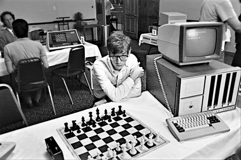 """Patrick Riester as Peter Bishton in """"Computer Chess."""""""
