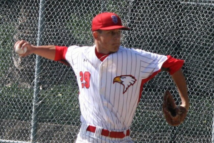 Santa Fe Christian senior Cole Acosta is a mainstay for the Eagles pitching staff.
