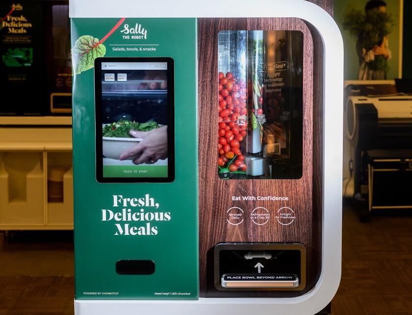 Sally, Chowbotics' salad-dispensing robot