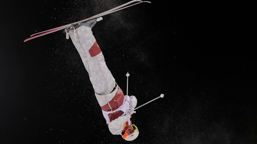 MikaelKingsbury, of Canada, trains ahead of the 2018 Winter Olympics in Pyeongchang, South Korea, W