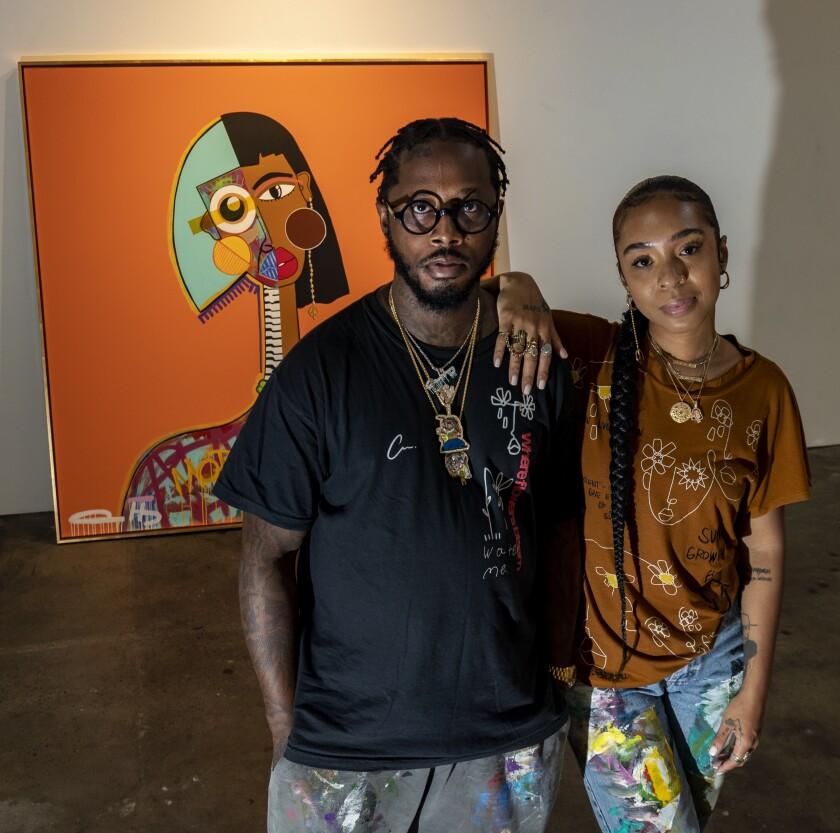 Artist couple Al-baseer Holly and Cristina Martinez