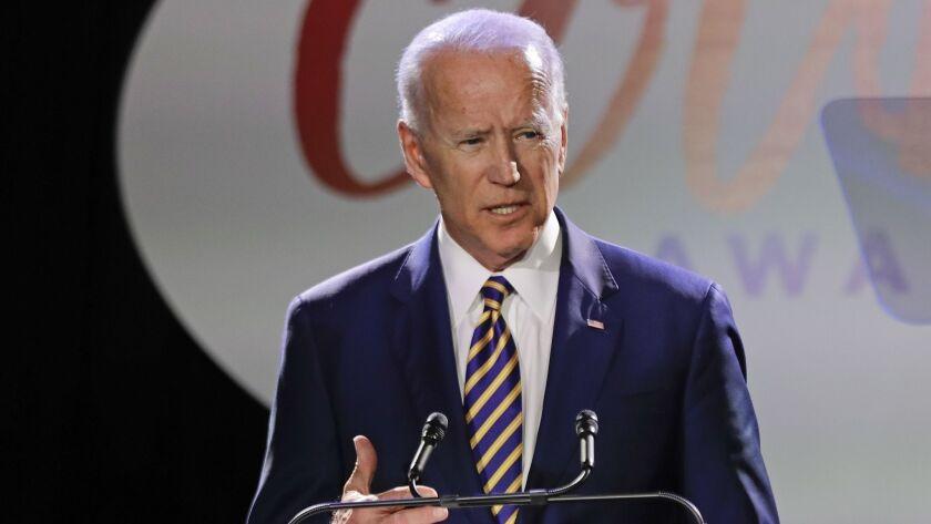 Former Vice President Joe Biden speaks at the Biden Courage Awards last week in New York.