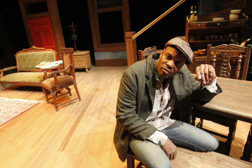 "Laurence Brown is playing Citizen Barlow in Cygnet Theatre's production of ""Gem of the Ocean,"" by the late August Wilson."