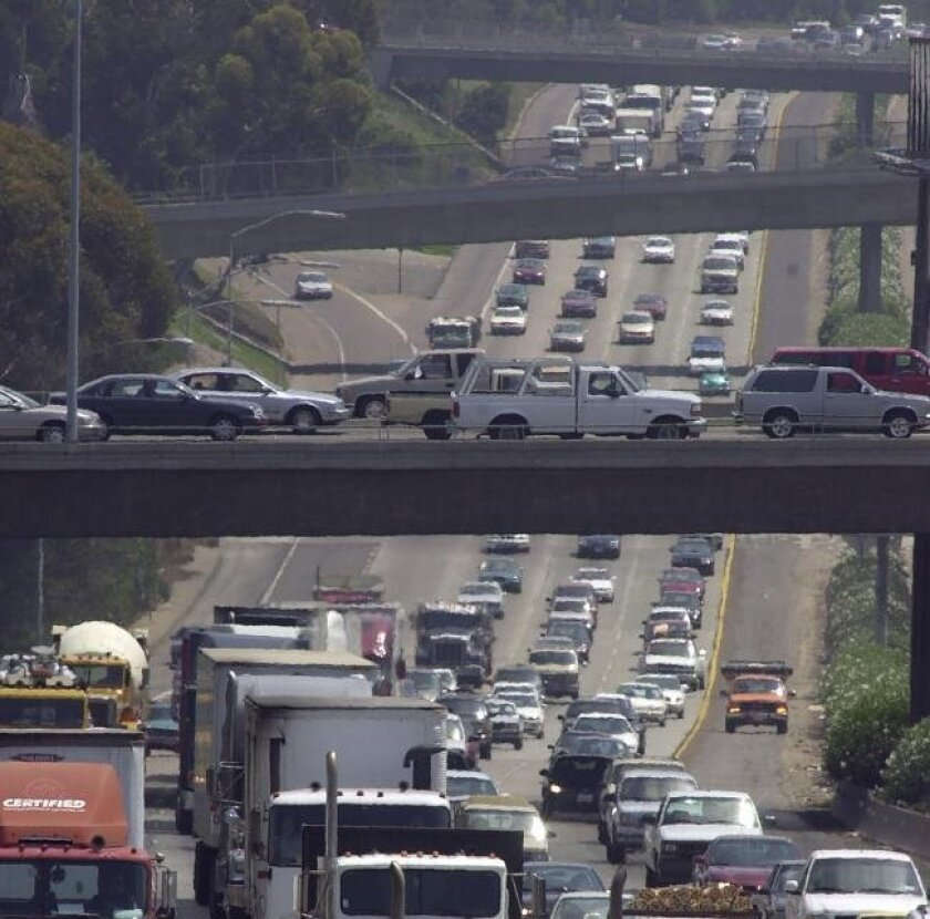 Traffic on Interstate 5 in the North County.