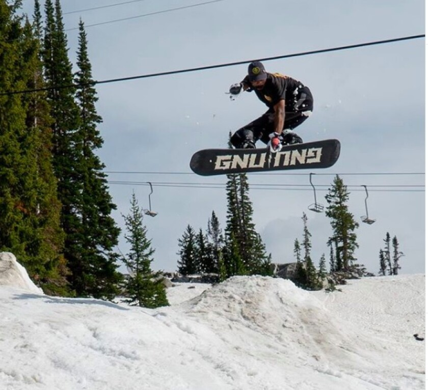 Michael McDaniel catches air at the Barrer to Entry event he organized in Utah.