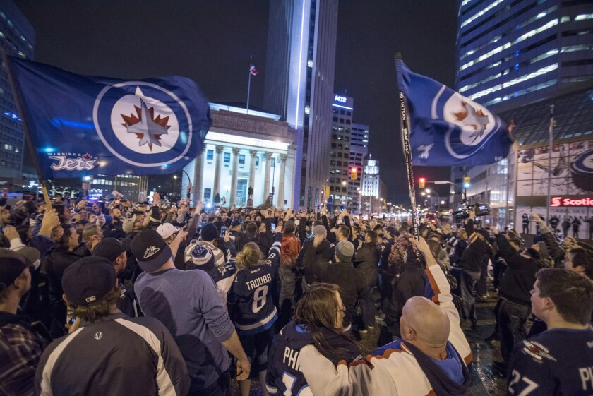 Jets fans celebrate