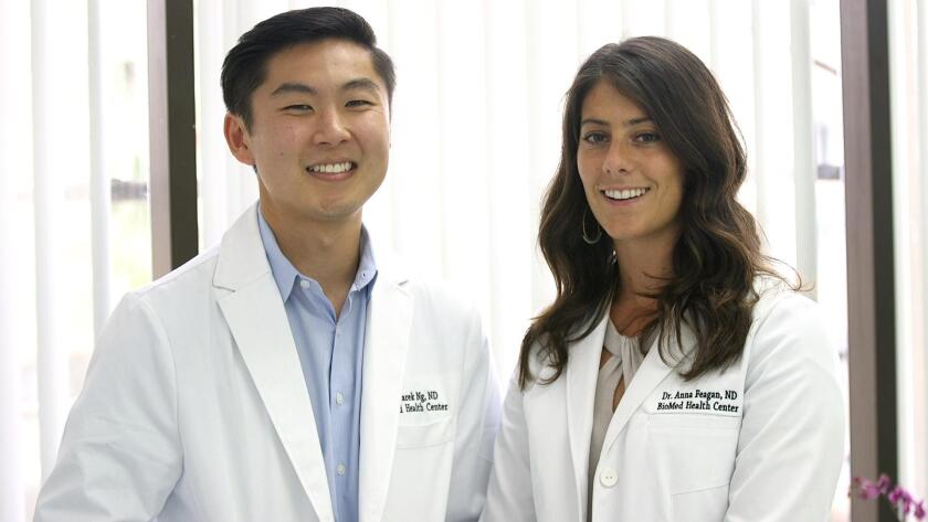 Drs. Garek Ng and Anna Feagan are founders and owners of BioMed Health Center, 4130 La Jolla Village Drive, Suite 201, La Jolla. (858) 9640-441. biomedhealthcenter.com