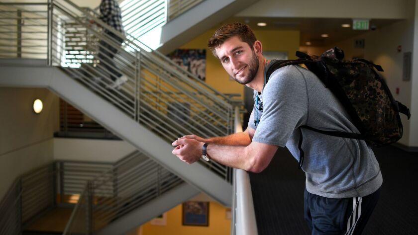 LOS ANGELS, CALIFORNIA febraury 6 ,2019-Former Bruin quarterback Josh Rosen, now a starter for the A