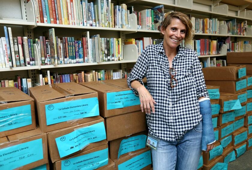 La Cañada Elementary School librarian Billie Melillo