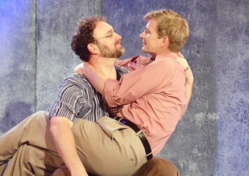"""Tim Cummings, left, and Bill Brochtrup in a scene from """"The Normal Heart"""" at Fountain Theatre."""