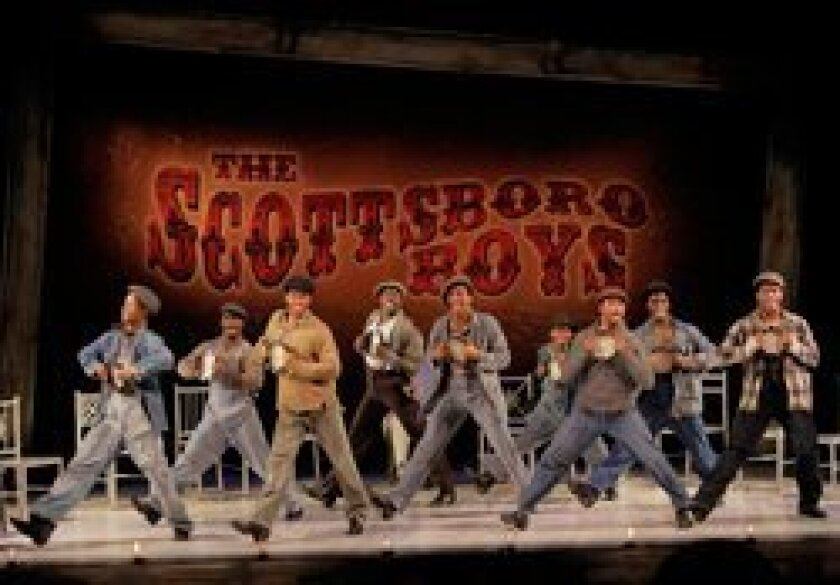 The West Coast premiere of The Old Globe musical 'The Scottsboro Boys' begins April 29.