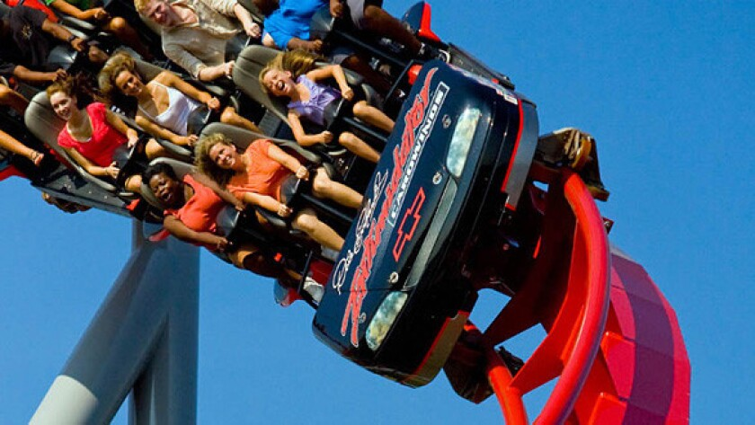 """Carowind's Intimador will be one of 24 contenders in """"Insane Coaster Wars"""" on the Travel Channel."""