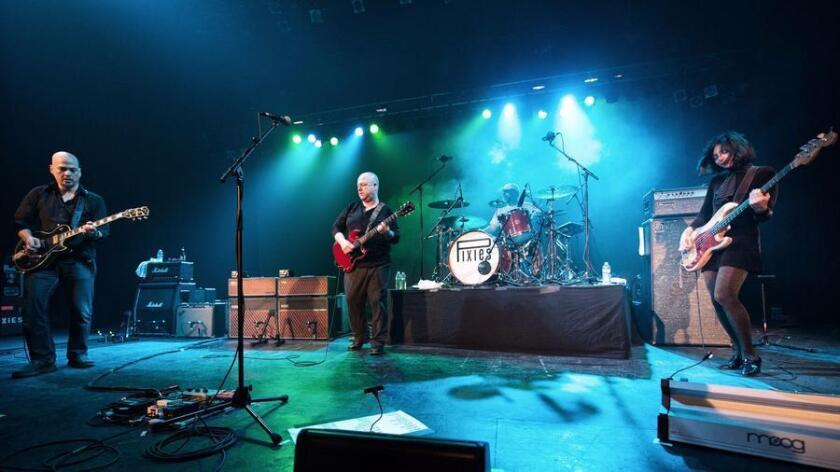 The Pixies are shown in concert at the Orpheum Theatre in Boston. (Photo by Dana Yarvin)