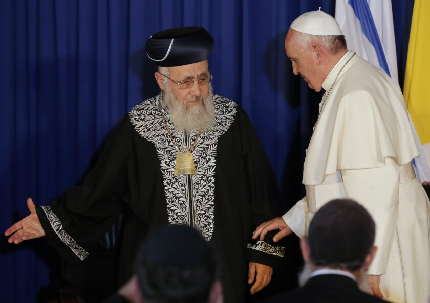 Rabbi Yitzhak Yosef and Pope Francis