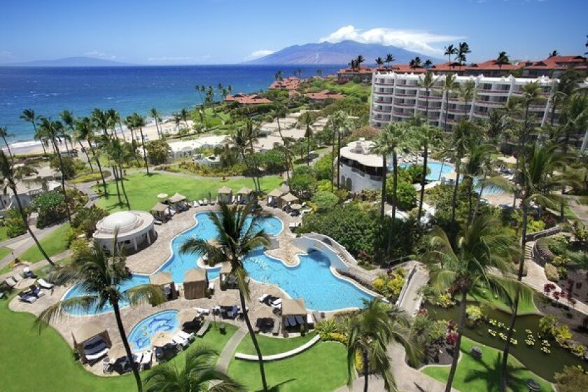 A view of the Fairmont Kea Lani's resort, where more than half a dozen California lawmakers met for a policy conference.