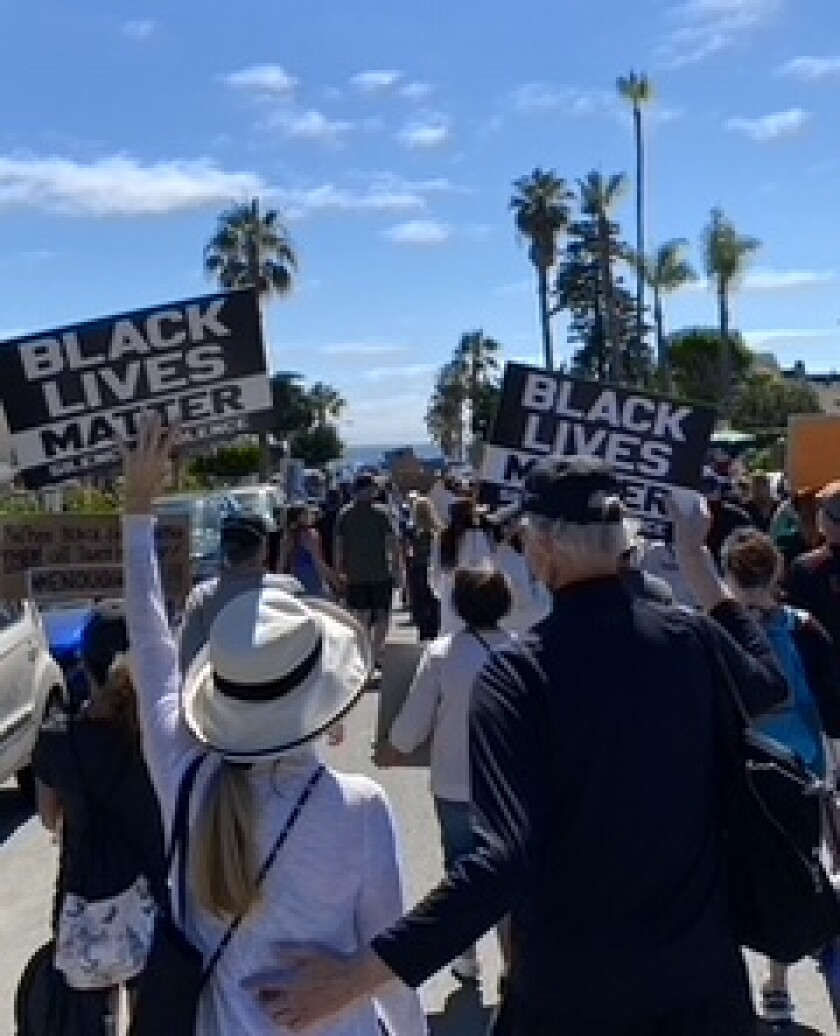 Mary Wescott and Tom Gegax had the idea of a film on systemic racism after participating in the La Jolla Flower March.