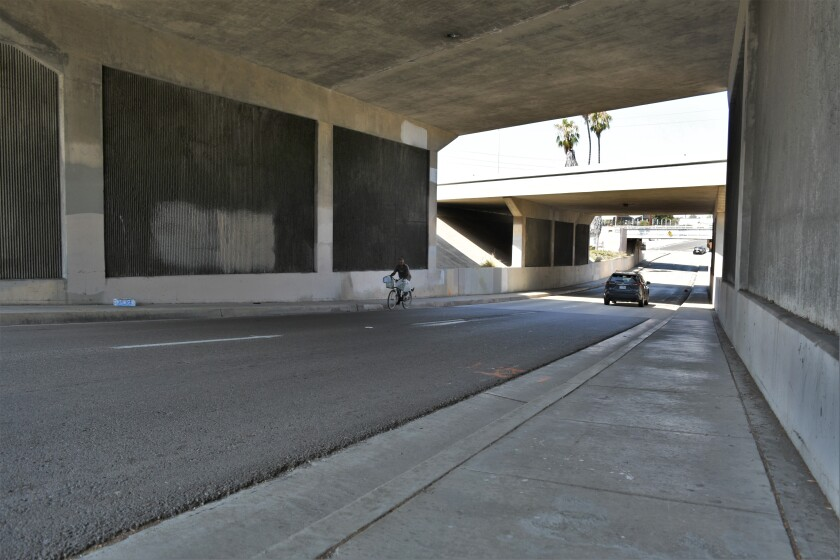 West 19th Street under Interstate 5 in National City.