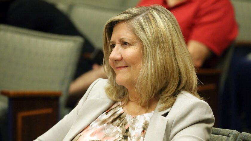 Debbie Kukta smiles as she becomes the Burbank Unified School District's next assistant superintende