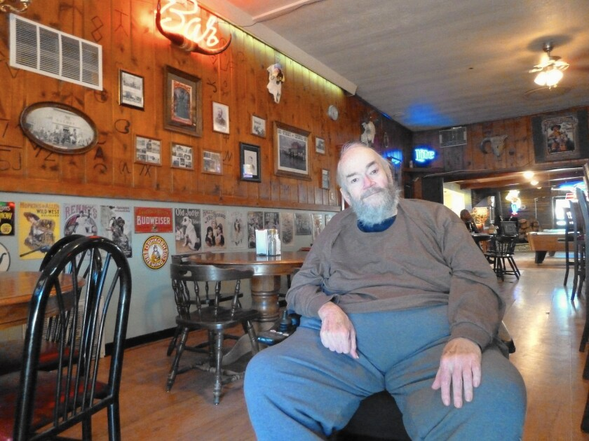 """""""Big Jim"""" Blake, longtime owner of the Cowboy Bar in Meeteetse, Wyo., lost half his weight and racked up mammoth medical bills after a heart attack. To pay his debts, he may have to sell his beloved bar."""