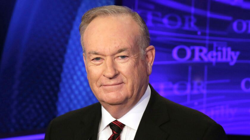 "FILE - In this Oct. 1, 2015, file photo, Bill O'Reilly of the Fox News Channel program ""The O'Reilly"