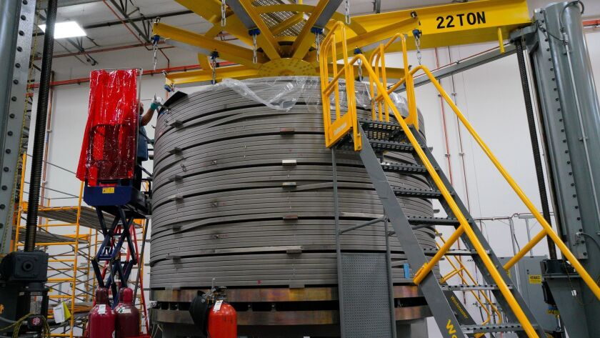 The third CS module. In it, are seven segments spliced together to make the continuous coil. At thi