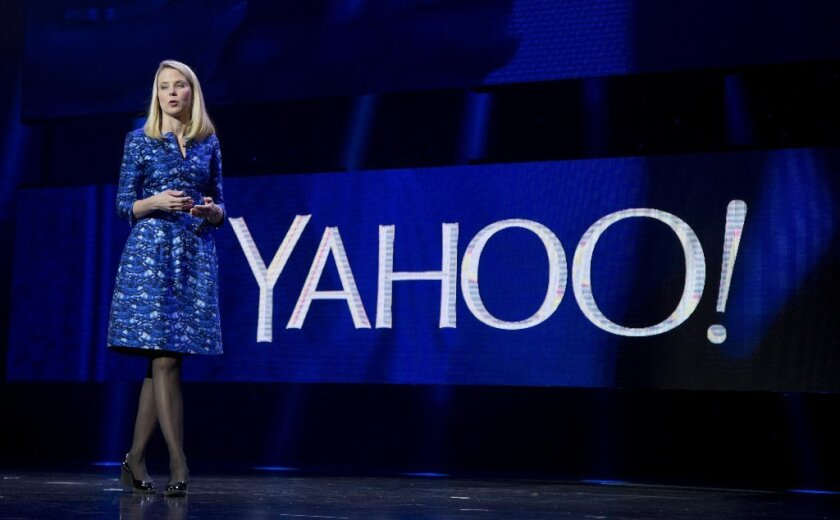 Yahoo Chief Executive Marissa Mayer speaks at the Consumer Electronics Show this month.