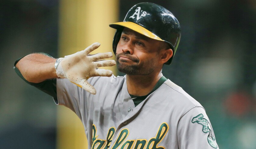 Former major leaguer Coco Crisp while playing for the Oakland Athletics.