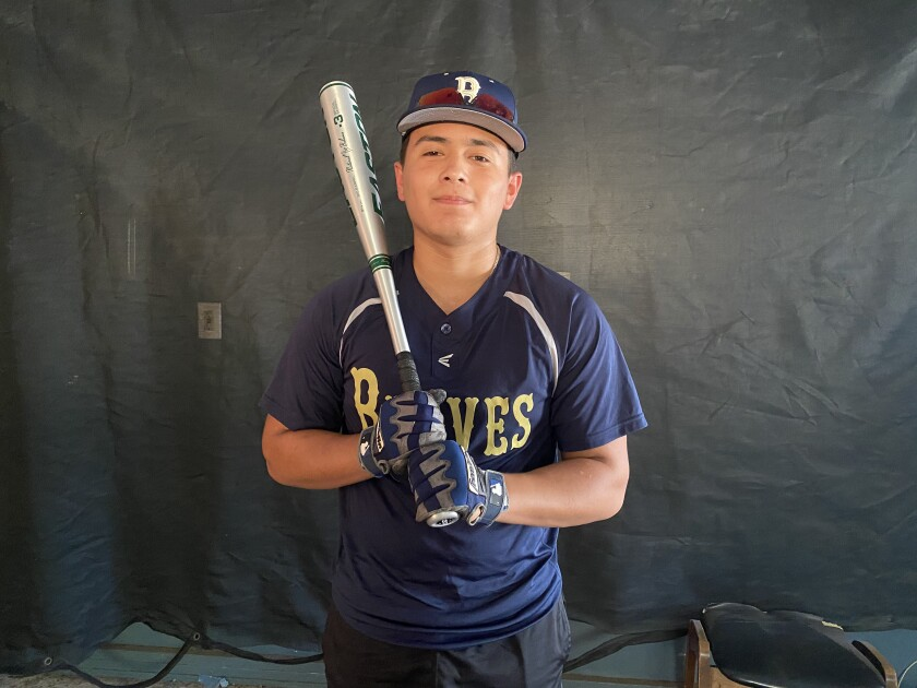 Junior outfielder Dominek Cervantes of Birmingham can't wait for a return to baseball and on-campus classes.