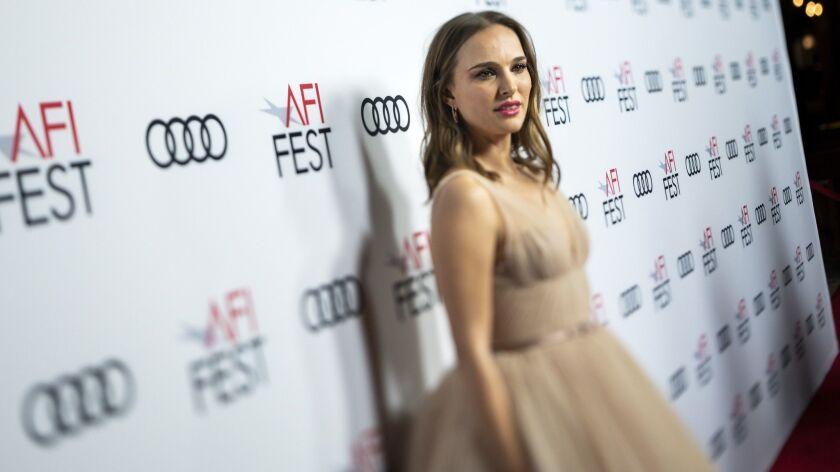 HOLLYWOOD, CA --NOVEMBER 09, 2018 --Academy Award-winning actress Natalie Portman, on the red carpet
