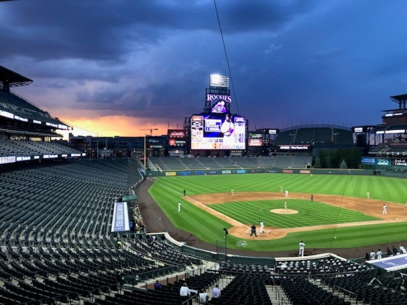 Coors Field in the seventh inning Friday.