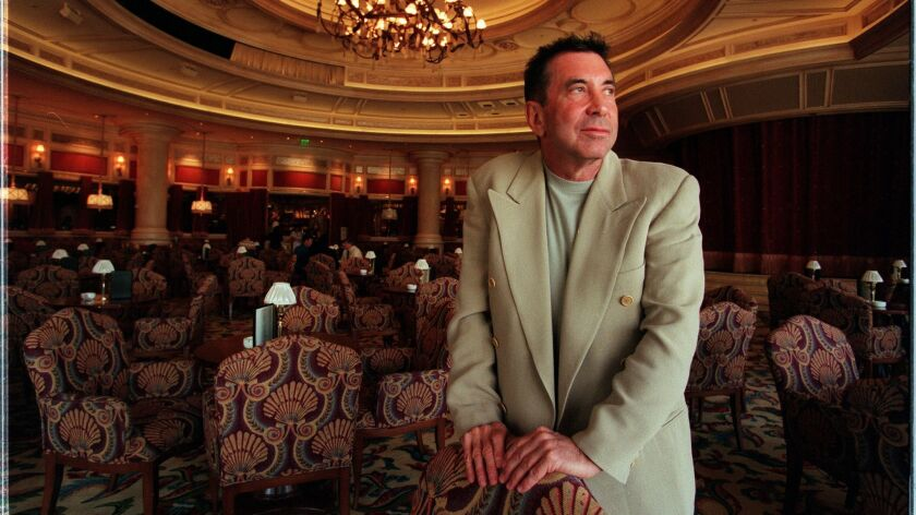 Sandy Gallin at Bellagio Hotel in Las Vegas in 1999, when he was chief of Mirage Entertainment and Sports, Inc.
