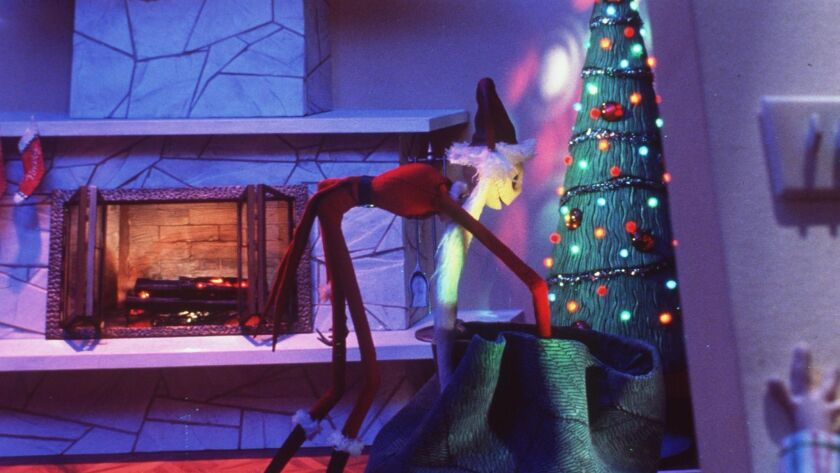 "Jack Skellington in ""Tim Burton's The Nightmare Before Christmas."""
