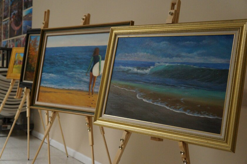 Paintings by Hooshang Yashar are on exhibit at MainStreet Oceanside as part of Oceanside's First Friday Art Walk.