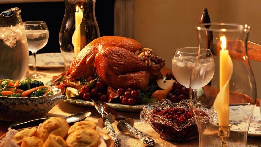 Thanksgiving turkey dinner.