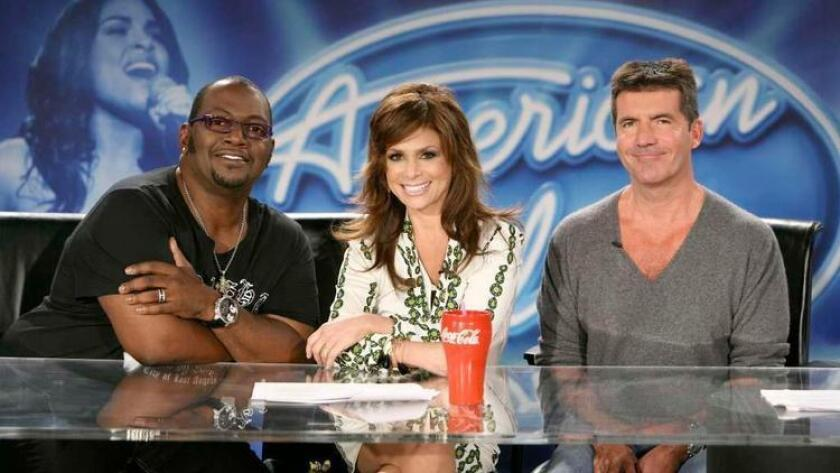 """The original judges on """"American Idol,"""" from left, Randy Jackson, Paula Abdul and Simon Cowell. The Fox TV show, which ended 16 months ago after its ratings had plunged, is being revived by ABC. (File photo)"""