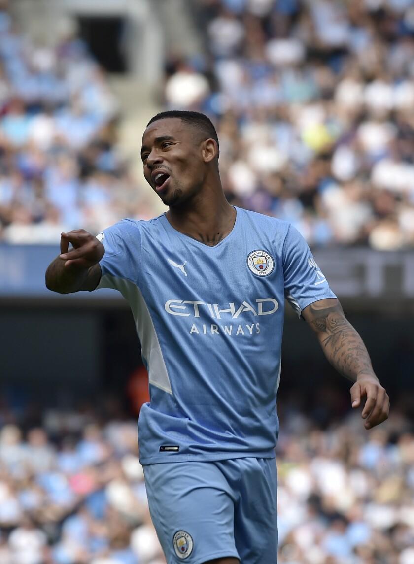 Manchester City's Gabriel Jesus during the English Premier League