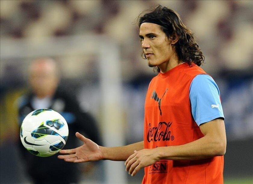 En la imagen, el jugador Edinson Cavani,  de la selección nacional de fútbol de Uruguay. EFE/Archivo