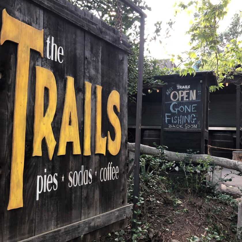 The Trails Cafe in the Fern Dell area of Griffith Park, Friday evening.