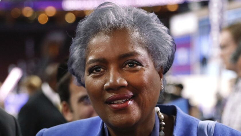 Donna Brazile appears on the floor of the Democratic National Convention in Philadelphia.