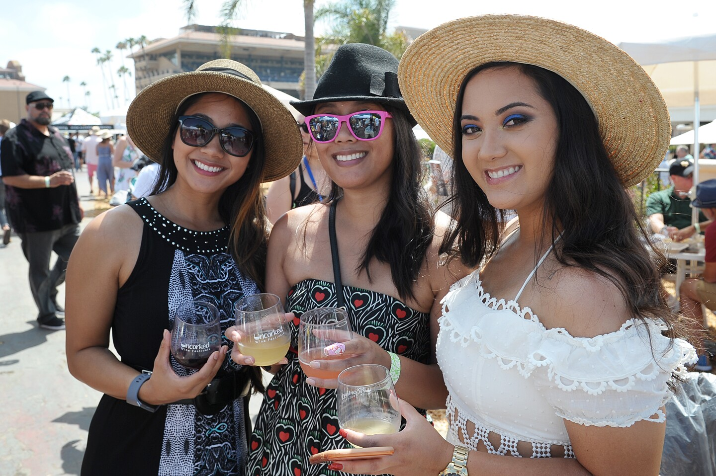 Guests at Uncorked: Del Mar Wine Festival cooled off with unlimited wine tastings at the Del Mar Racetrack on Saturday, July 27, 2019.