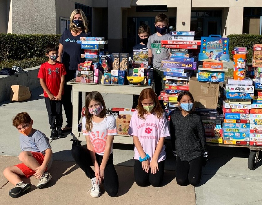 Sage Canyon Elementary PTA recently held a game/puzzle drive to benefit the Community Resource Center.
