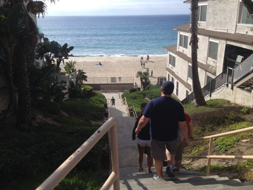 Carlsbad is planning improvements to the beach stairways along Ocean Street.
