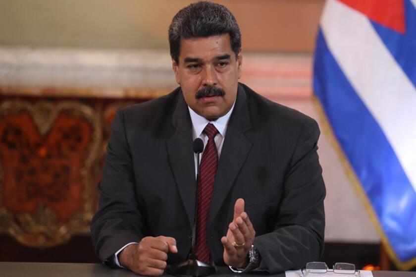 El Tribunal Supremo venezolano en el exilio declaró hoy nulas las elecciones presidenciales de mayo pasado, en las que fue reelegido el presidente Nicolás Maduro para el periodo 2019-2025, y pidió investigar a la autoridad electoral de ese país. EFE/Archivo