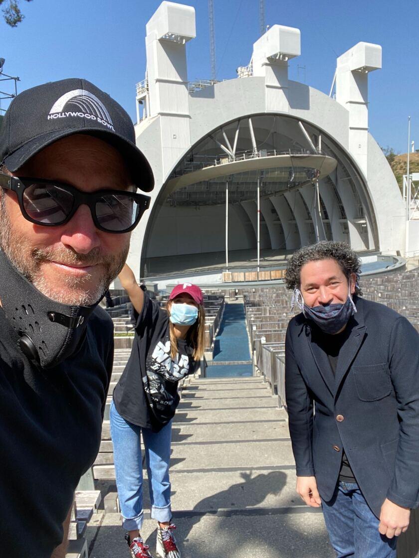 Richard and Demi Weitz and Gustavo Dudamel